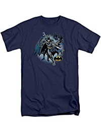 Justice League Batman Collage Mens Big and Tall Shirt