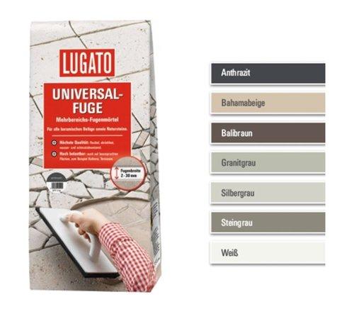 Lugato Universal-Fuge 5 kg anthrazit - Mehrbereichs-Fugenmörtel - Fugenmörtel Naturstein