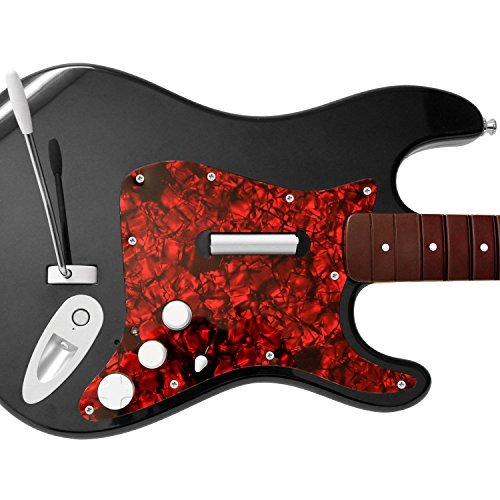 Rock Band 4 Fender Stratocaster Guitar Replacement Upgrade Pick Guard - Red Pearl by Mad Catz (Playstation Picks)