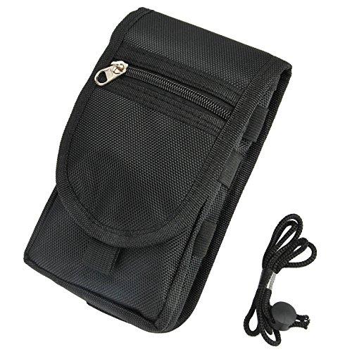 Faleto Molle Taktische Handy Tasche Hüfttasche Gürteltasche Handy Paket Wasserdicht passt alle Handys unter 6,3 Zoll, schwarz