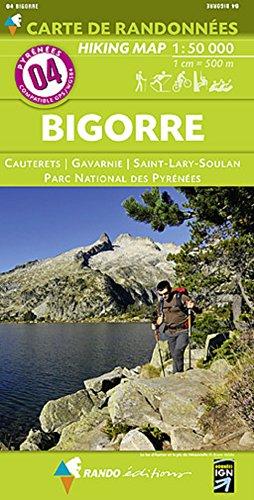 Pyrénées carte 4 Bigorre - Cauterets - Gavarnie - St-Lary-Soulan - Parc National des Pyrénées 1 : 50 000: Carte de Randonnées por Rando éditions