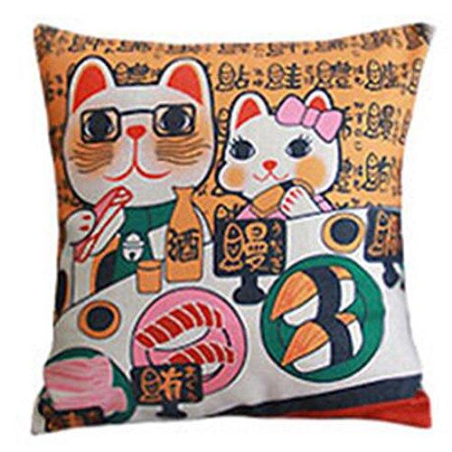 Black Temptation Style Japonais Coussin d'oreiller Confortable pour la Maison/Sushi Restaurant 45x45cm -A19