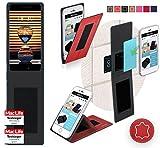 reboon Hülle für Meizu Pro 7 Plus Tasche Cover Case Bumper | Rot Leder | Testsieger