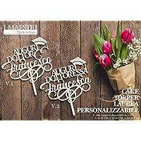 Cake topper LAUREA personalizzabile con nome - I MAESTRI