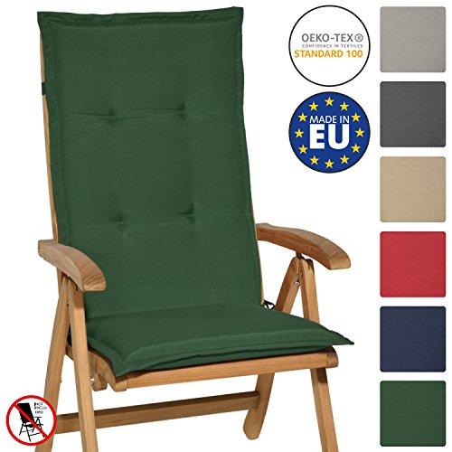 Beautissu cuscino per sedia a sdraio loft hl 120x50x6cm resistente e comodo anche per sedie reclinabili, spiaggine e poltrone - verdone