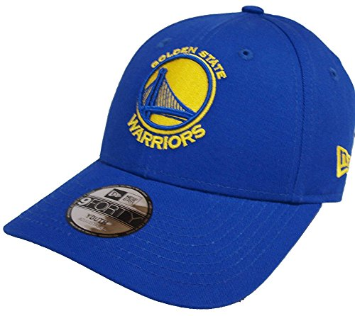 New Era NBA Golden State Warriors Kids Essential 9Forty Strapback Cap Blue Youth Jugendliche (Mütze Hut Neu Logo)