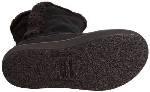 crocs Modessa Suede Button W 14536, Stivali donna Nero (Black/Black)