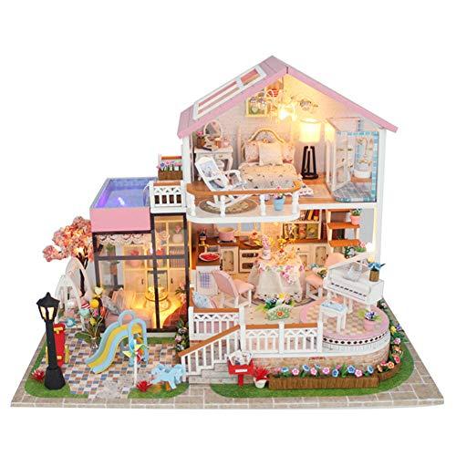 SOSAWEI DIY Puppenhaus Holz Mini Handmade Kit Für Kind Kabine Märchen Dekoration Haus, Kreative Geburtstag/Weihnachten.