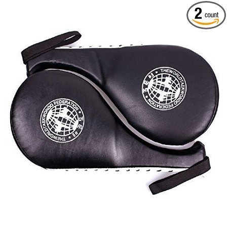 Taekwondo Sparring Double Kick Pads Ziel Karate Kickboxen Training TKD Kicking Pads Praxis Kick Target Training Foot Pads Martial Arts Ausrüstung Kit Set für Kinder Kinder Herren Kickboxen Training-equipment