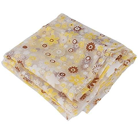 Pinzhi Gelb Floral Sheer Vorhänge Wohnzimmer Schlafzimmer Fenster Dekoration Valances