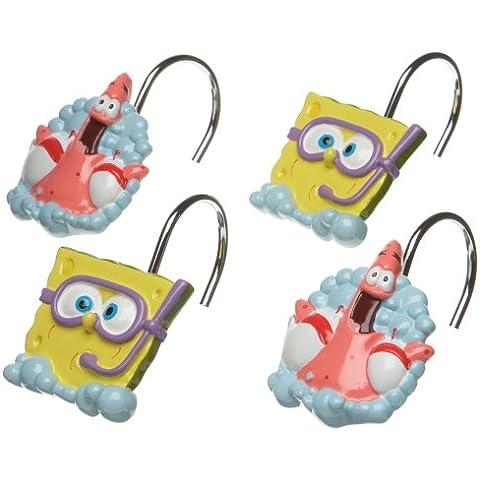 SpongeBob Squarepants Shower Curtain Hooks by SpongeBob