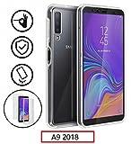 New&Teck Coque 360 Degré Samsung Galaxy A9 2018 – Protection intégrale Avant + Arrière en Rigide, Housse Etui Tactile 360 degré – Antichoc, Transparent A9 2018