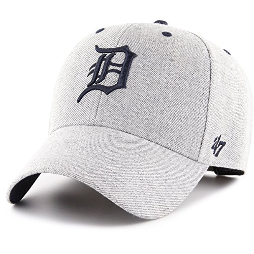 47 Brand Detroit Tigers Adjustable Cap MVP MLB Storm Cloud, Charcoal, Einheitsgröße