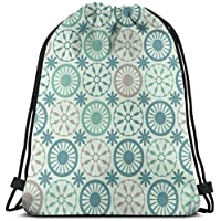 """NA Diamond Pattern Customized Classic Portable Drawstring Backpack,14.2""""× 15.7"""", For Gym,school"""