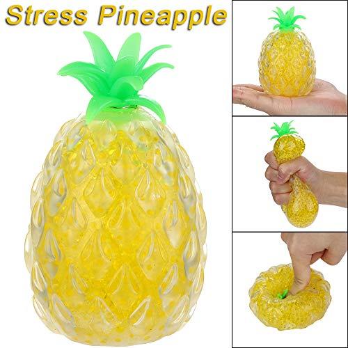 Cooljun Spongy Bead Squishies Ananas gequetscht Spielzeug Druck Stressabbau Spielzeug Geschenke für Erwachsene und Kinder Weihnachten Geschenk Haus Dekoration