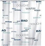 Wenko 19119100 Duschvorhang Water - wasserdicht, pflegeleicht, Kunststoff - Peva, Mehrfarbig