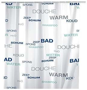 Wenko water 19120100 tenda per doccia con pellicola in - Pellicola per doccia ...