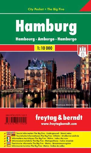 Hamburg, Stadtplan 1:10.000, City Pocket + The Big Five, freytag & berndt Stadtpläne