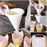 TOSSPER Strumenti di Cottura Regolabile a Velo Candy Imbuto Pasticceria al Cioccolato Mold Muffins Batter Dispenser Crema Cookie Cupcake Pancake