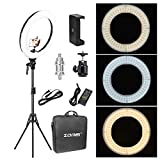 "OSB STYLE 18""Dimmable Photographic Lighting Studio Video Light Ring 3200-5600K pour Le téléphone Intelligent Maquillage Live Youtube Portrait..."
