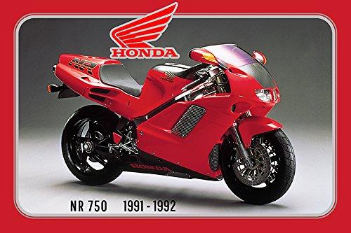 Honda NR 750 1991-1992 125PS motorrad, motor bike, motorcycle blechschild (Honda Motorrad Blechschild)