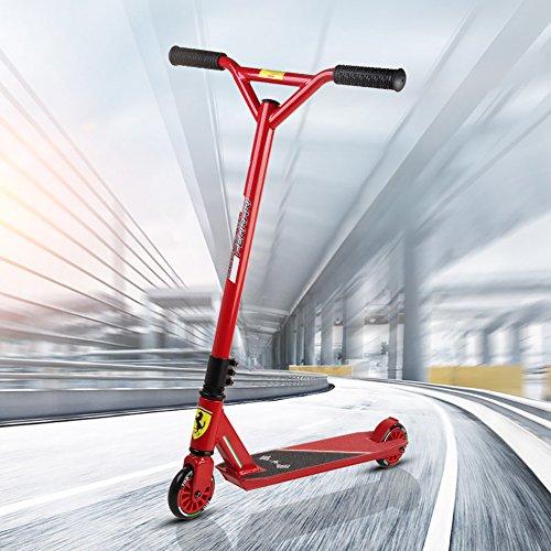 Ferrari® Stunt Scooter Freestyle Tretroller Scooter Kickboard Pro Sport Trick für Kinder Junge Erwachsene ab 5 bis 18 Jahre Alt