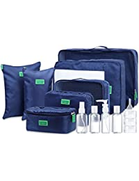 Packing Cubes - Durable 7 Set Packing Cubes with Travel Bottles Set, Moveto Premium Travel Luggage Packing Organizers with Toiletry Bag and Leak Proof Portable Travel Size Bottle Set …