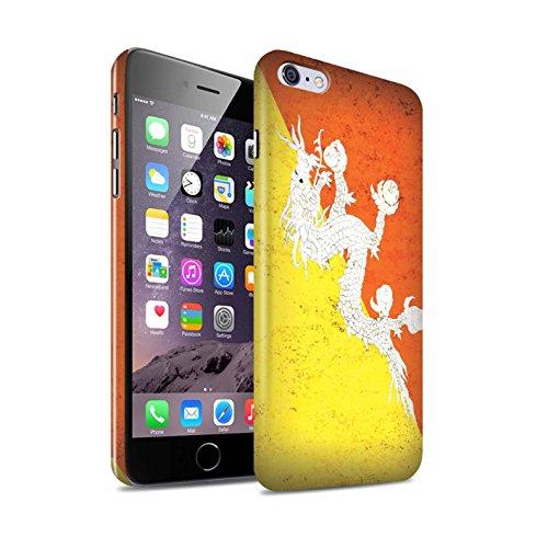 STUFF4 Glanz Snap-On Hülle / Case für Apple iPhone 6S+/Plus / Pakistan/Pakistanisch Muster / Asien Flagge Kollektion Bhutan/Bhutanese