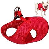 OER No-Pull Pet Harness Klettverschluss Schnalle Befestigung Outdoor Pet Weste explosionsgeschütztes Mesh-Material für kleine mittelgroße Hunde rot,XL