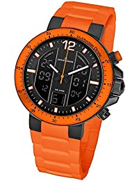 Jacques Lemans Herren-Armbanduhr XL Analog Digital Quarz Silikon 1-1726H