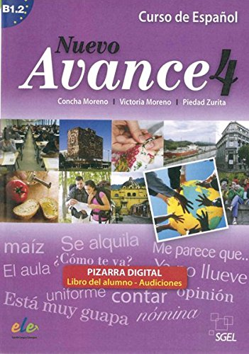 Preisvergleich Produktbild Nuevo Avance 4: Curso de Español / Pizarra digital – Material für Whiteboard und PC