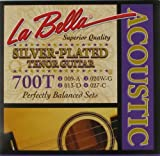 La Bella 700T, Acoustic Tenor Guitar, silber