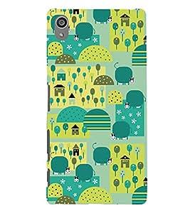Crazy pattern Back Case Cover for Sony Xperia Z5 Preminium