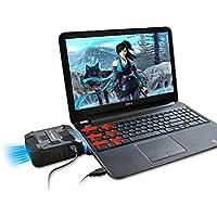 KOBWA Laptop Kühler Heizkörper, Hochleistungslüfter für Schnelle CPU Kühlung mit Vakuumventilator - USB Angetrieben, Ultra-leiser Ventilator Kühlkörper für Spielekonsole Laptop PC