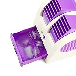 BiabaCollection Adjustable Blue Angles Scented Usb Electric Air Conditioning Mini Fan Air Cooler ( Free Credit Card Holder)