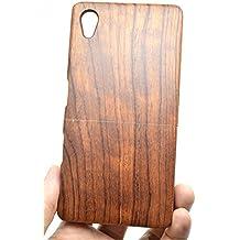 RoseFlower Sony Xperia Z5 Premium Funda de Madera - Palo de rosa - Natural Hecha a mano de Bambú/Madera Carcasa Case Cover con GRATIS Protector de Pantalla para tu Smartphone
