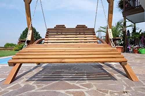 ASS Design Hängeliege Doppelliege Hollywoodliege Doppelliege aus Holz Lärche Modell: 'Macao-Lounger' (ohne Gestell) von - 5