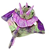 Rrimin Pet Cat Dog Warm Coral Velvet Costumes Dragon Halloween Costume(Pink)(XS)