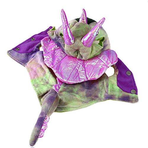 und Warm Coral Samt Kostüme Dragon Halloween-Kostüm (Rosa) (XS) (Happy Halloween Kostüme Haustier)