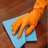 #10: Arsa Medicare Waterproof Cleaning Household Gloves for Kitchen, Dish Washing, Laundry, Perfect For Garden and Household Tasks, Lightweight and Durable,Size: Large, COLOR: Orange, ONE Pair...