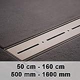 CLP Canalina Scarico Doccia PRIWALL - Canaletta Doccia in Acciaio Inox con Sifone in Plastica Dura - Set Completo Corriacqua Doccia con Anti-Odore Acciaio Inox 900mm / 90 cm