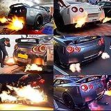 Auto Auspuffrohr, LeeMon Auspuff Flame Thrower Kit Auto Zündung Drehzahlbegrenzer Launch Control Fire Controller Für Nissan GTR (Schwarz)