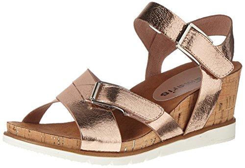 Tamaris Damen 28700 Offene Sandalen mit Keilabsatz, Pink (LT.Rose Crack 516), 36 EU