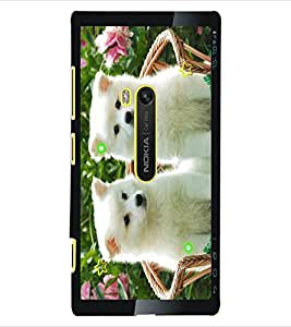 ColourCraft Cute Dogs Design Back Case Cover for NOKIA LUMIA 920