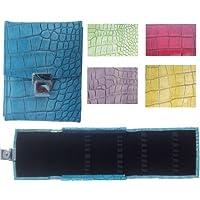 Ampullenetui Homöopathie Taschenapotheke Rind Leder Crocostyle für 32 Gläser, Farbe:Azurblau preisvergleich bei billige-tabletten.eu