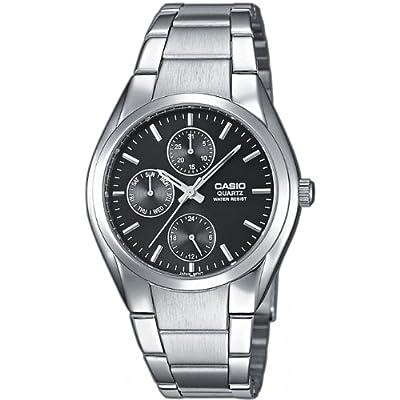 Casio MTP-1191A-1AEF - Reloj analógico de cuarzo para hombre con correa de acero inoxidable, color plateado
