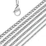 DonDon® Herren Halskette Panzerkette Edelstahl Länge 52 cm – Breite 0,4 cm - 2