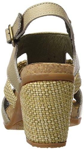 El Naturalista Damen N5031 Soft Grain Mola Hohe Absätze mit Offenen Zehen Grau (Piedra)