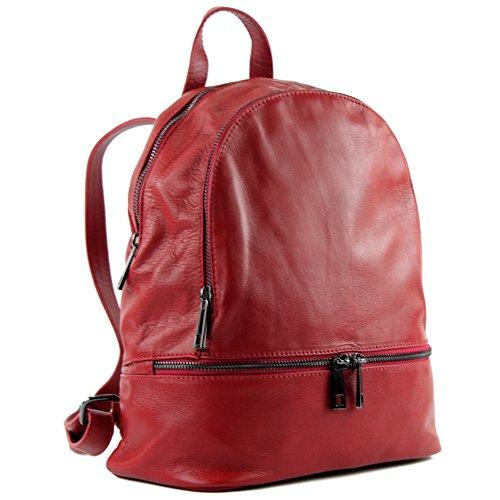 modamoda de - Made in Italy , Sac à main porté au dos pour femme siehe Beschreibung - Rouge - rouge foncé, siehe Beschreibung