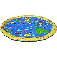 Back To My Hut 100CM Spinkle Y Splash Play Mat, Pad Inflable De Agua Al Aire Libre Summer -Fun Water Toys para Niños/Dog/Cat/Pets-Fun para Familias, Amigos Y Fiestas En La Piscina